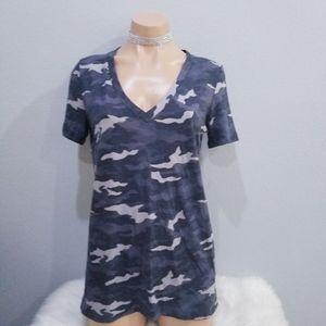 New PINK Victoria's Secret camo v neck t shirt S